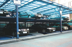 3-Storey Lifting, Lowering and Transverse Moving Parking Equipment (underground type)