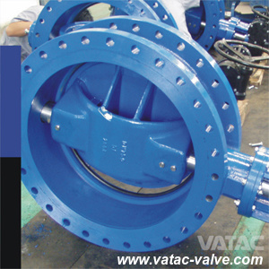 Double Flanged Cast Steel Butterfly Valve pictures & photos