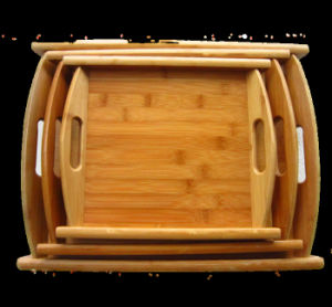2016 Wooden Pallets Full Bamboo Tea Tray Mat with Binaural pictures & photos