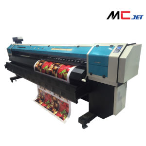 Mcjet 3.2m Eco Solvent Printer with 2 Printheads of Epson Dx10 Printhead 1440dpi pictures & photos