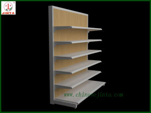 Wood Back Panel Metal Shelf for Display Use (JT-A30) pictures & photos