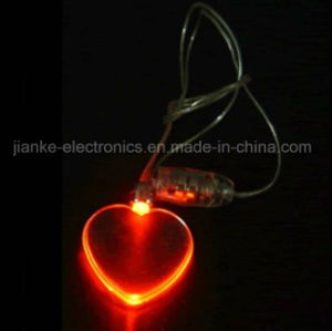 LED Flashing Magnet Red Heart Necklace with Logo Print (2001) pictures & photos