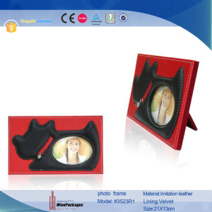 Custom Designs Leather Photo Frame Wholesale (3523R1) pictures & photos