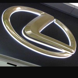 Gold Coating Vacuum Forming LED Auto Logo Sign/Car Dealership Logo pictures & photos