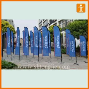 Advertising Outdoor Beach Feather Custom Flags (TJ-55) pictures & photos