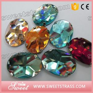 Good Quality Sew on Acrylic with Claw Plastic Stone pictures & photos