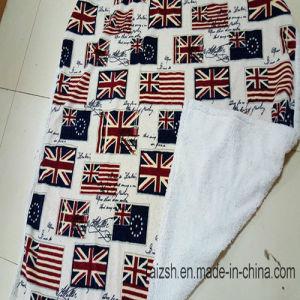 UK Flag Sherpa Bonding Velour Blanket Throw pictures & photos