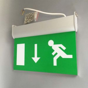 Rechargeable Fire Safety Double Sided LED Emergency Exit Sign Light pictures & photos