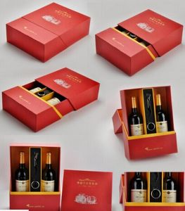Custom Printed Wine Box for Bottle & Glasses pictures & photos