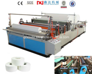 Small Bobbin Jumbo Roll Rewinder Slitting Small Toilet Paper Machine pictures & photos