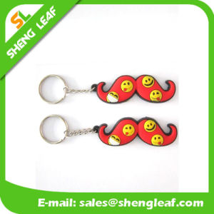 Promotional Gifts Custom Logo Rubber Key Chain Product (SLF-KC017) pictures & photos