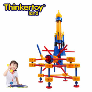 Thinkertoy Land Blocks Educational Toy Military Series Carrier Rocket Big Rocket (M6603)