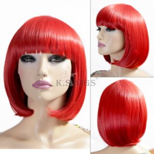 Crazy Color 100% Japanese Kanekalon Bob Synthetic Wig pictures & photos