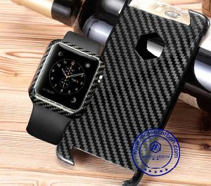 New Arrival Carbon Fiber Smart Watch Phone Case Cover pictures & photos