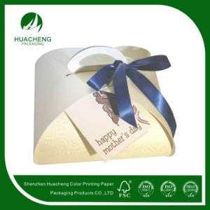 Customized Food Cake Gift Box with Ribbon Closured (HC0117)