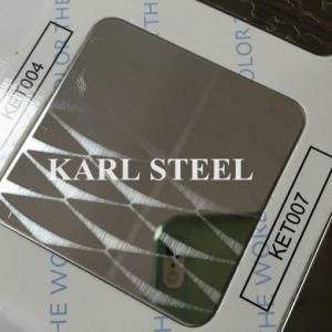 High Quality 430 Stainless Steel Color Ket007 Etched Sheet pictures & photos