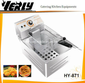 5.5LTR Electric Deep Flat Chicken Fryer with CE