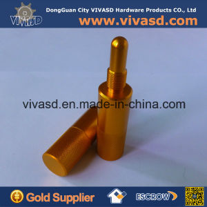 CNC Machining Gold Anodizing Motorcycle Parts Piston Stop pictures & photos