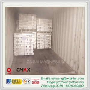 Mg Ingot Magnesium Ingot Mg9993 Mg9995 Pure Magnesium Alloy Ingot pictures & photos