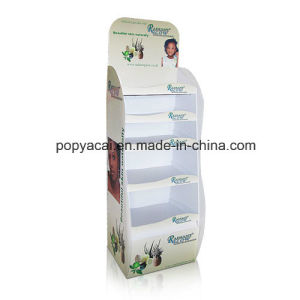 Cardboard Advertising Display Stands, Cardboard Floor Display Shelf for Shampoo pictures & photos
