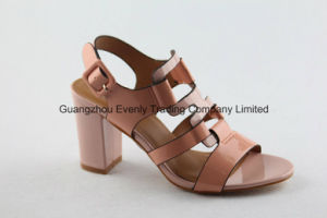 Fashion Open Toe Lady Sandal with Block Heel pictures & photos