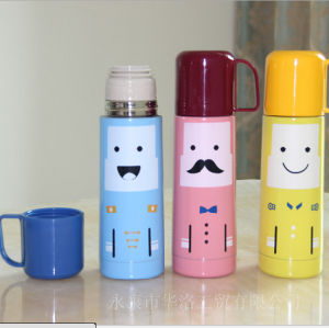 500ml Portable Double Stainless Steel Flask with Drinking Lid (DC-HL5-500) pictures & photos