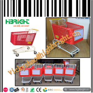 Supermarket Plastic Shopping Trolley with Metal Foot pictures & photos