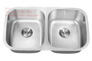 Stainless Steel Kitchen Sink, Sink, Stainless Steel Under Mount Double Bowl Kitchen Sink with CSA Certification pictures & photos