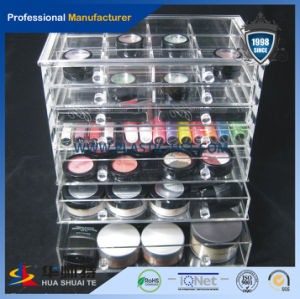 ODM 3 Drawer Whosesale Clear Acrylic Cosmetic Makeup Organizer-Hst Acrylic Product pictures & photos