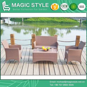 Kd Patio Sofa Set Assembly Garden Sofa Set Outdoor Wicker Sofa Set (Magic Style) pictures & photos