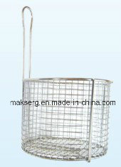 FDA Stainless Steel Circular Wire Basket for Commercial Deep Fryer pictures & photos