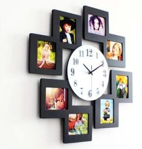 New Design Photo Frame Picture Frame Wooden Wall Clock pictures & photos