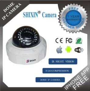 WiFi Full HD 800tvl IR Camera Night Vision Indoor/Outdoor Dome Camera (IP-05HW) pictures & photos
