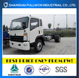 New Design HOWO 4X2 10ton Truck Chassis with Cummins Engine pictures & photos