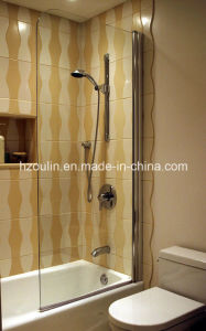 Clear Glass Frameless Shower Door Screen (SD-400 clear glass) pictures & photos