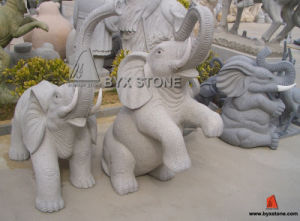 Grey Granite Stone Elephant Carving Garden Decortion Sculptures pictures & photos