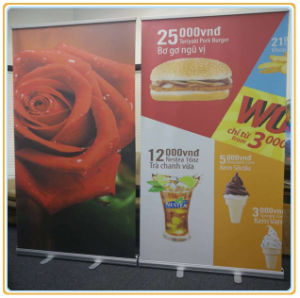 Restaurant Poster Display Stand with PVC Printing pictures & photos