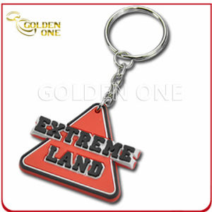 New Style Custom Embossed Soft PVC Key Ring pictures & photos