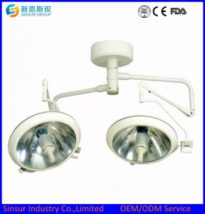 Ceiling Mounted Double Dome Shadowless Cold Light Operating Room Lamp pictures & photos