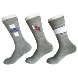 Half Cushion Cotton Fashion Stripes Outdoor Sport 3 Bar Socks (JMCOD02) pictures & photos