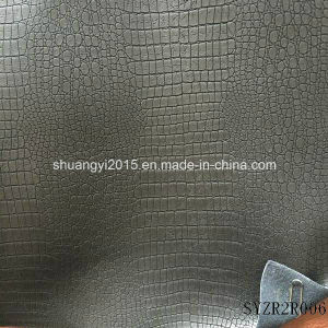 Alligator Pattern Synthetic PU Leather for Shoes pictures & photos