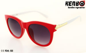 Popular Fashion Plastic Sunglasses with Metal Temple UV400 Kp50871 pictures & photos