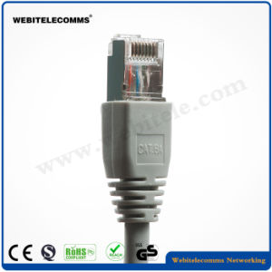 FTP Double Fully Shielded Cat 6A Twisted 4 Pair Patch Cable pictures & photos