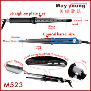 Factory Price Mch Fast 2 in 1 Hair Curler Flat Iron Hair Straightener pictures & photos