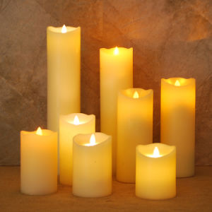 Battery Operated Flameless Wax LED Candle with Remote Contral/LED Candle Light pictures & photos