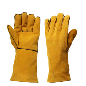 Heavy Duty Heat Resistant Hand Proctection Welding Gloves for Welders pictures & photos