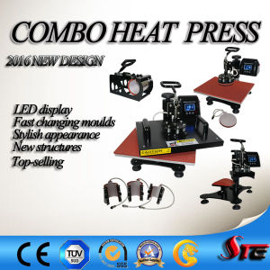 LED Display Combo Heat Press Machine pictures & photos