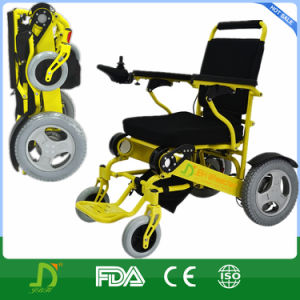 Brushless Moter Portable Folded Power Electric Wheelchair pictures & photos