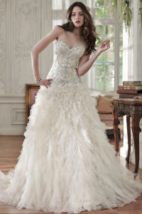 Beading Tulle Bridal Ball Gown Lace Bodice Beaded Wedding Dresses W16251 pictures & photos