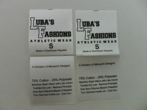 Both Side Folding Fashion Wholesale Care Labels pictures & photos